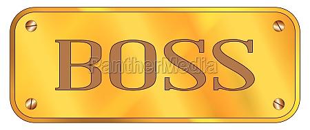 boss brass plaque