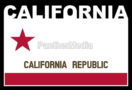 california state text flag