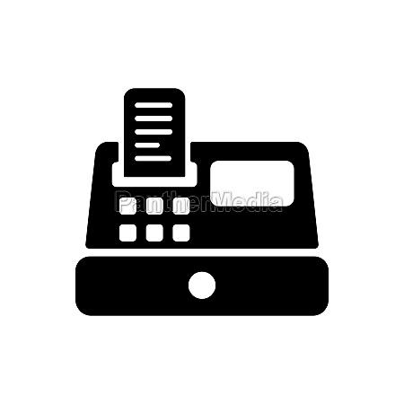 cash machine vector flat glyph icon