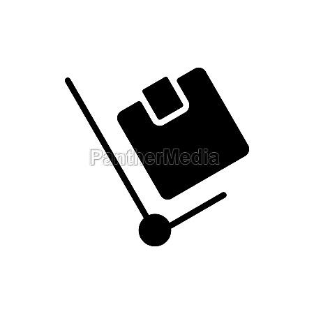 hand truck vector flat glyph icon