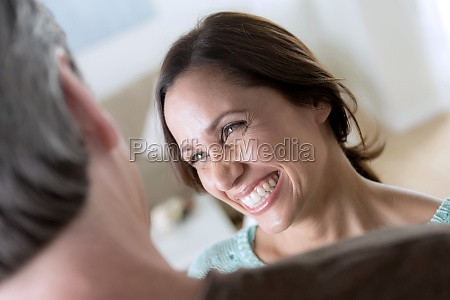 mature couple woman smiling