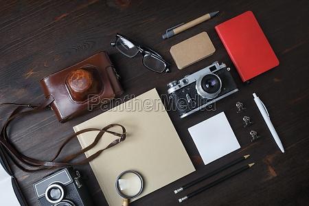 travel concept retro camera