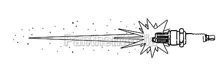 spark plug outline