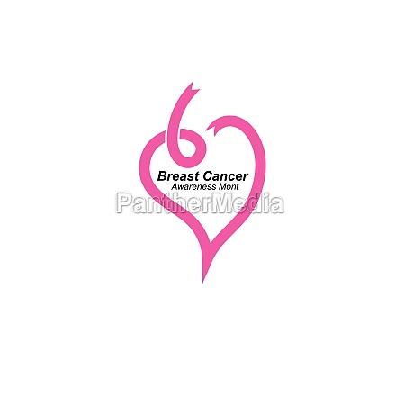 breast cancer ribbon vector illustration