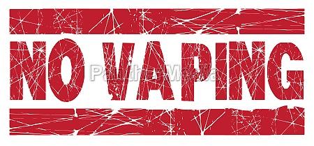 no vaping red ink stamp
