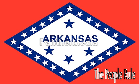 flag of arkansas with motto