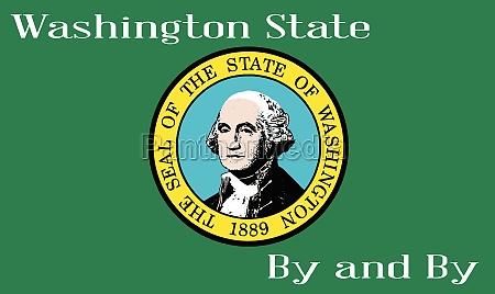 flag of washington state with motto