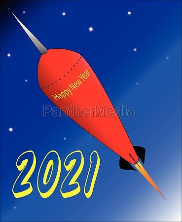 happy new year 2021 rocket