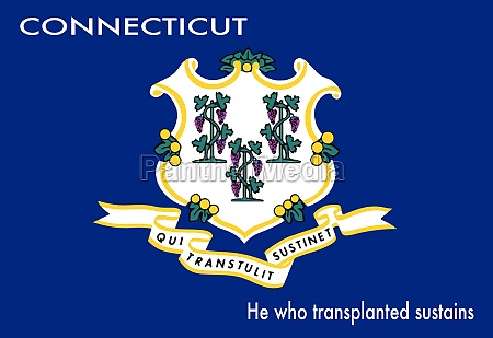 state flag of connecticut with motto