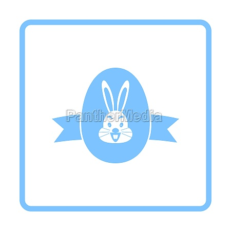 easter egg with ribbon icon