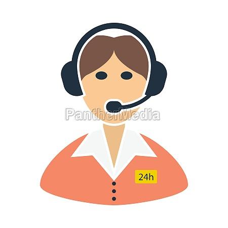 24 hour operator icon