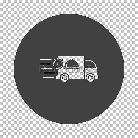 fast food delivery car icon