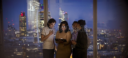 business people with digital tablet working