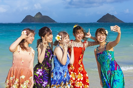 a group of japanese students on