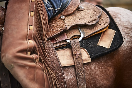 leatherwork and closer details of a