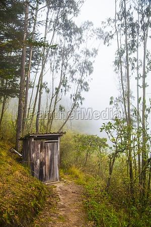 rustic outhouse in ecuadorian mountains calicali