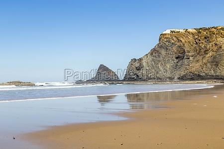 beach near of odeceixe algarve portugal