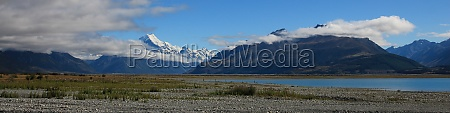snow capped mount cook and other