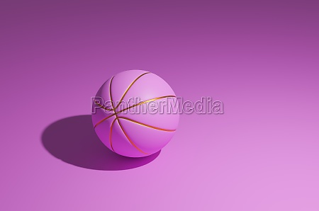 pink basketball with golden lines