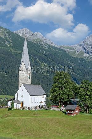 village of mittelberg kleinwalsertal vorarlberg austria