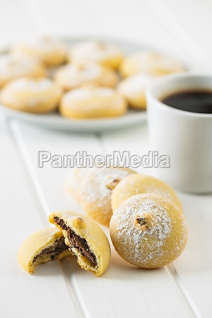 cookies with chocolate cream sweet biscuits