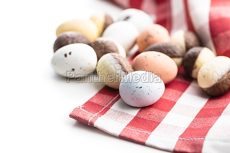chocolate easter eggs sweet candy eggs