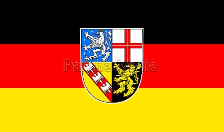 flag of the saarland germany