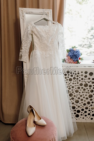 perfect white wedding dress on the