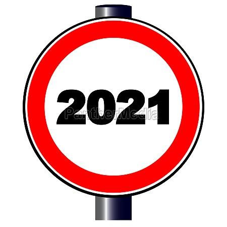 2021 traffic sign