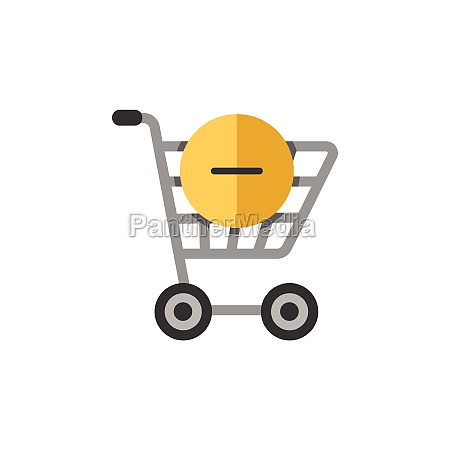 shopping cart delete product flat color