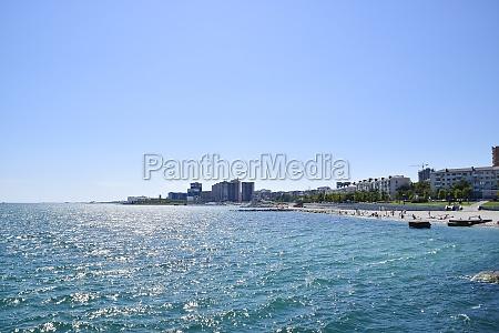 marina and quay of novorossiysk urban