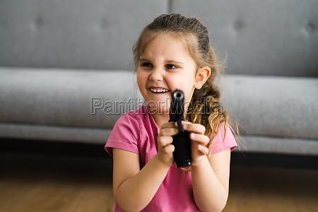 child girl with gun kid