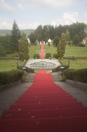 red carpet for marking a route