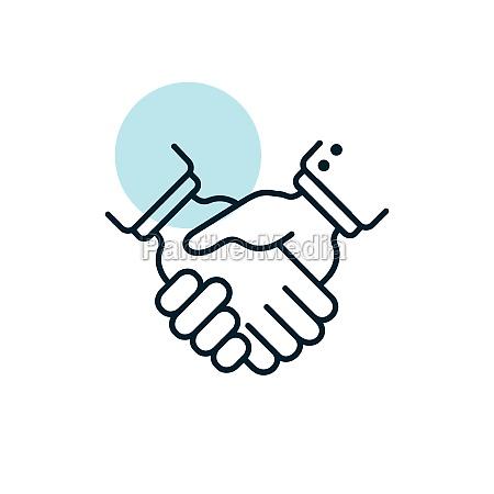 business handshake contract agreement icon