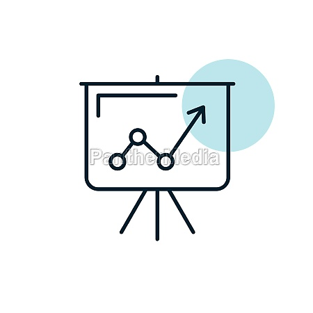 flip chart outline icon business sign