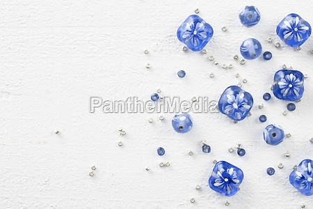glass and seed beads
