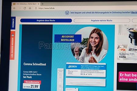 germany 06032021 lidl onlineshop website sales