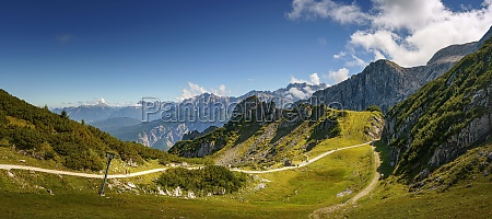 panorama of a mountain landscape in