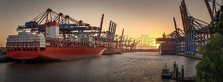 container ships in the port of