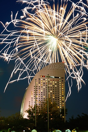 inter continental hotel and fireworks