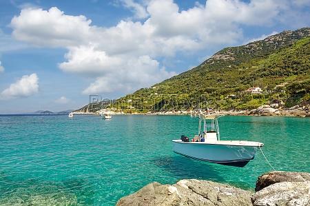 coastal landscape on island of elba