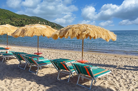 beach on island of elba tuscany