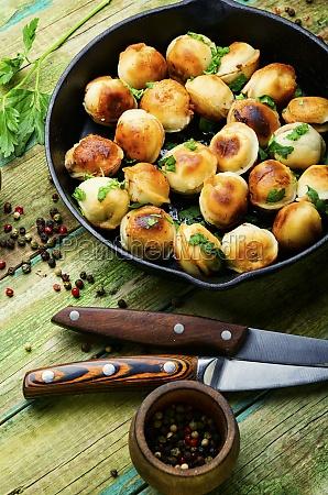 homemade meat dumplings or pelmeni