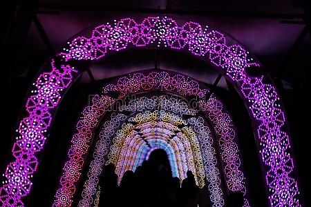 light of the tunnel christmas illuminations