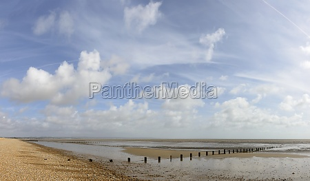 low tide on beach at new