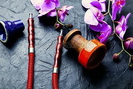 shisha with floral tasty