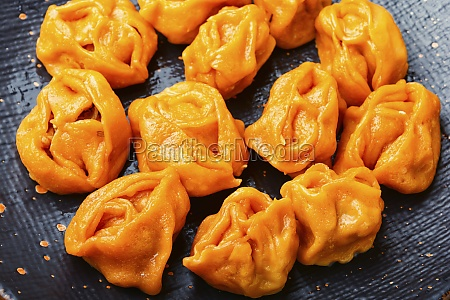 boiled dumplings with pumpkin