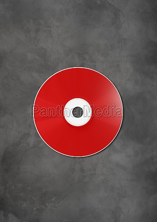 red cd dvd mockup template