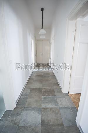 an aisle or hallway of a