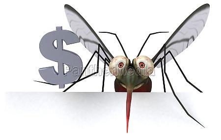 mosquito 3d illustration